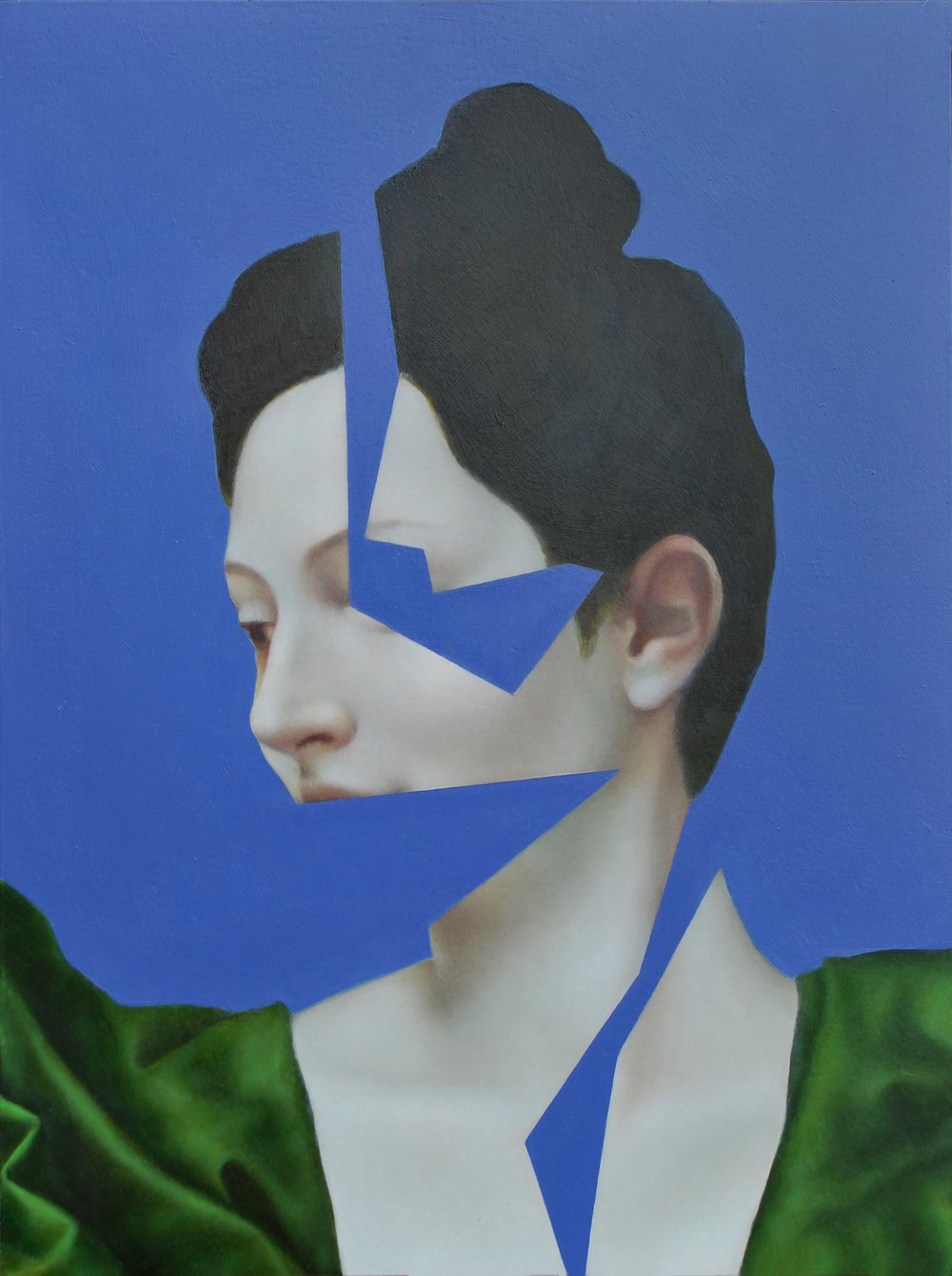 Clio Blue, oil on panel, 30.5 x 22.9 cm, 2016