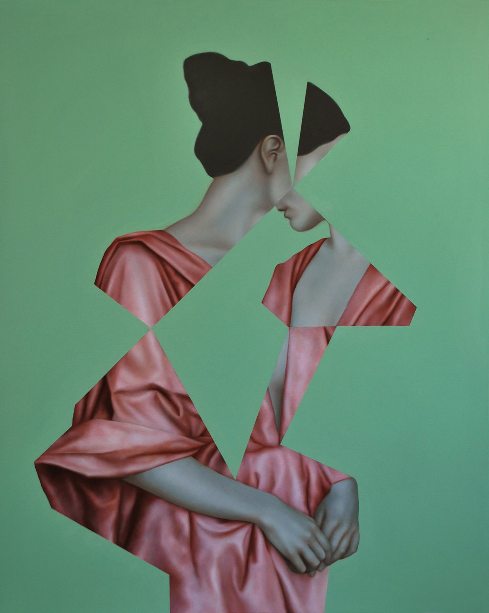Echo Green, oil on canvas, 100 x 80 cm, 2016