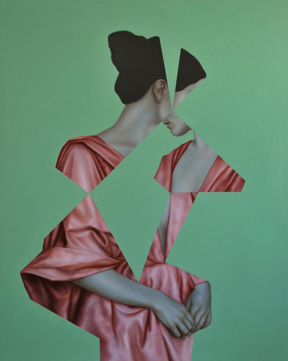 Echo Green, oil on canvas, 100 x 80 cm, 2016