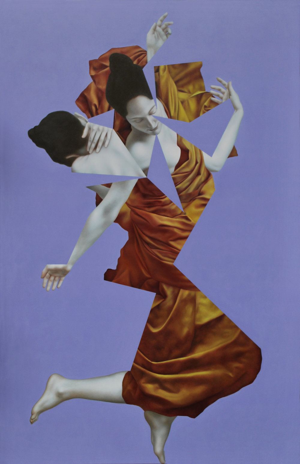 Eurydice Purple, oil on canvas, 170 x 110 cm, 2016