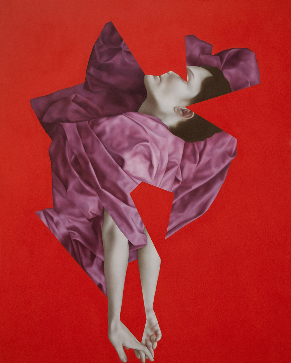 Orpheus Red, oil on canvas, 100 x 80 cm, 2017