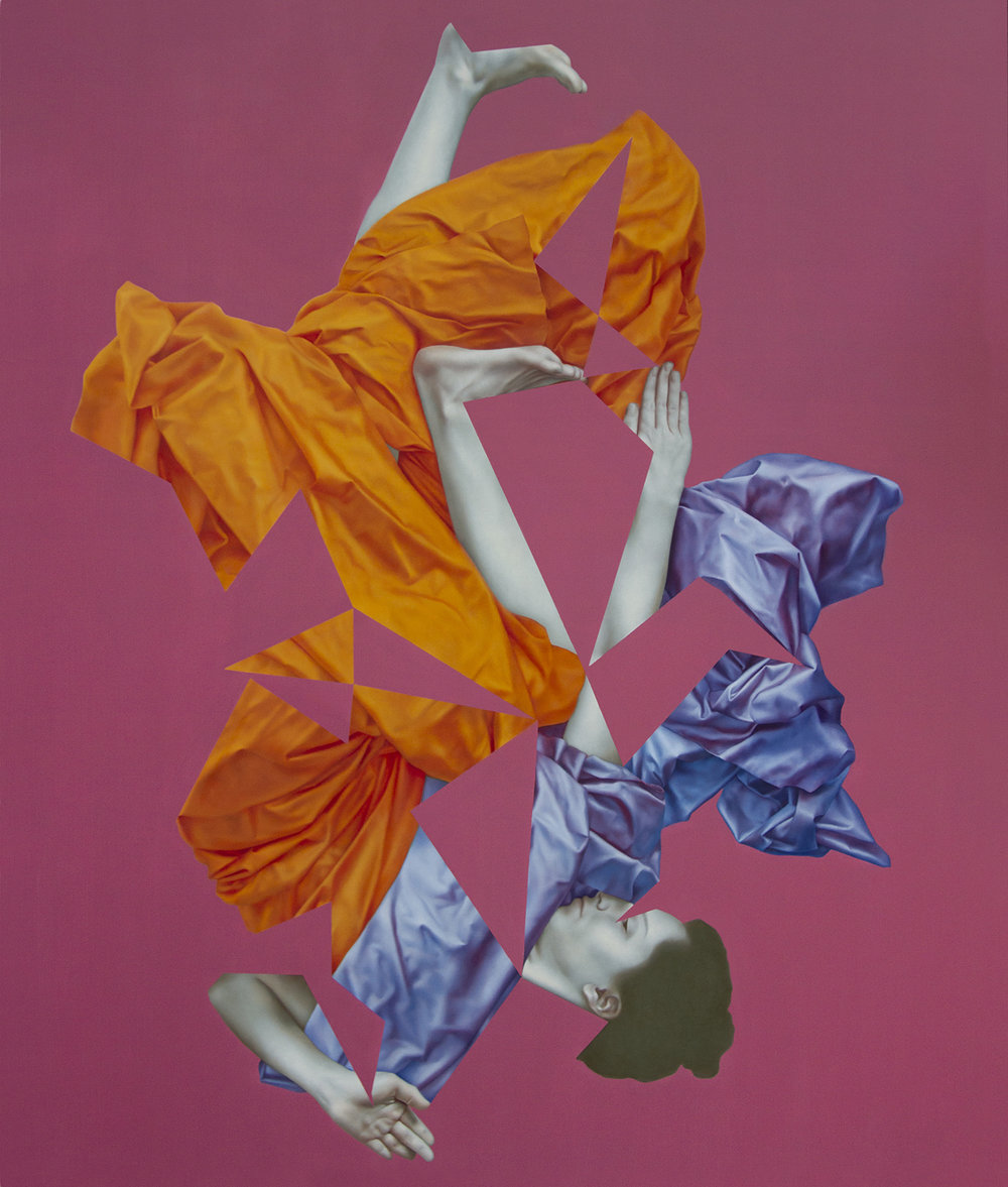 Icarus Pink, oil on canvas, 130 x 110 cm, 2017
