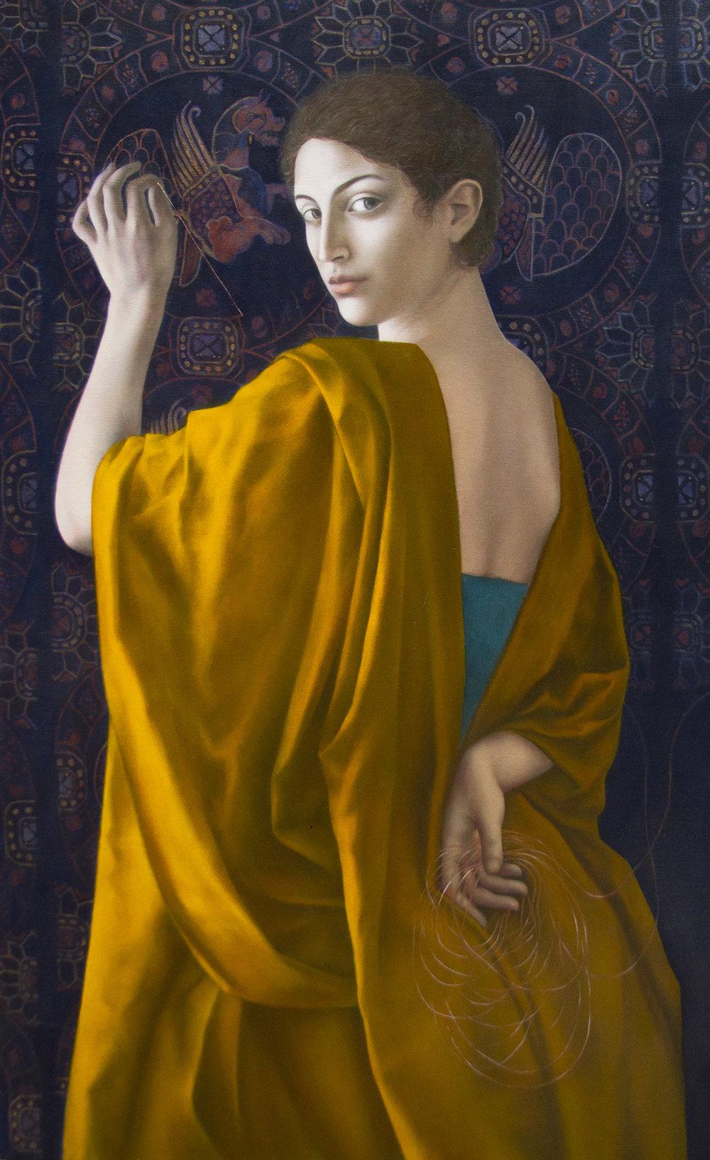 Deus ex Machina, oil on canvas, 121 cm 75, 2014