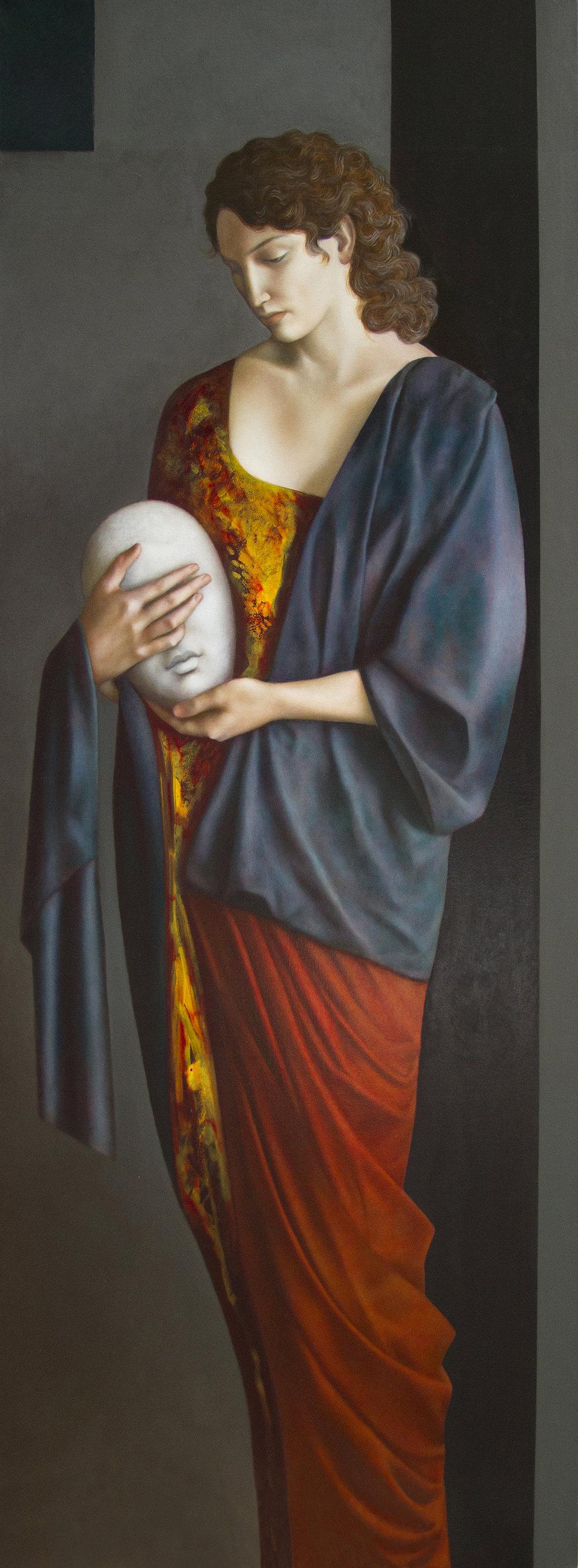 Medusa, oil on canvas, 210 x 70 cm, 2014