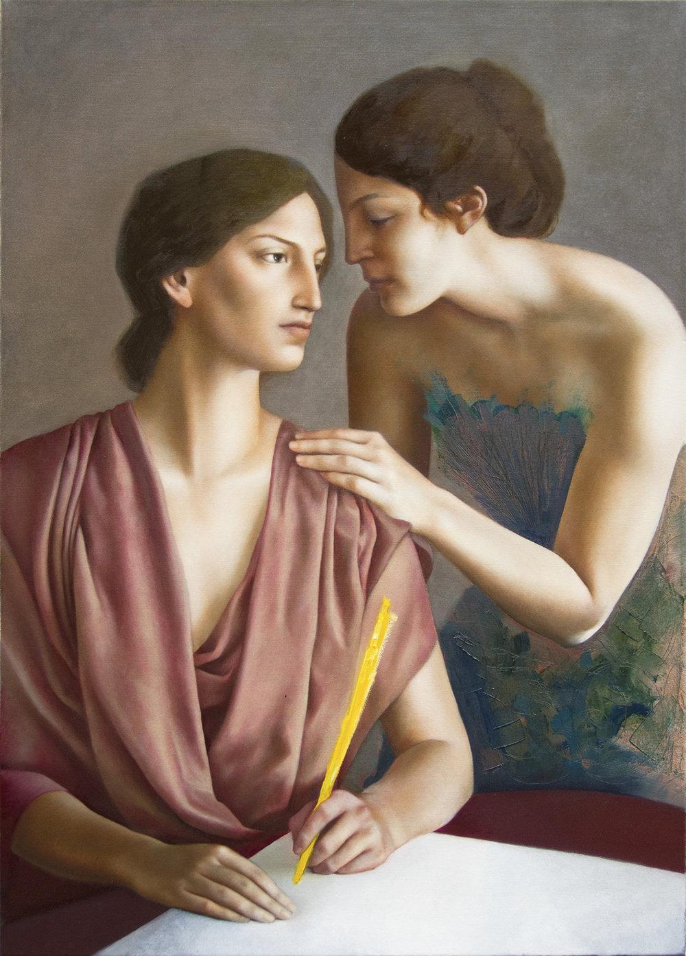 Caesura, oil on canvas, 96 x 70 cm, 2014