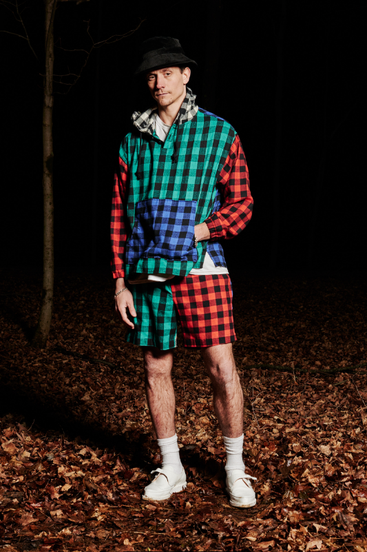Look #7: Hooded Pullover Top, Plaid Baggy Short
