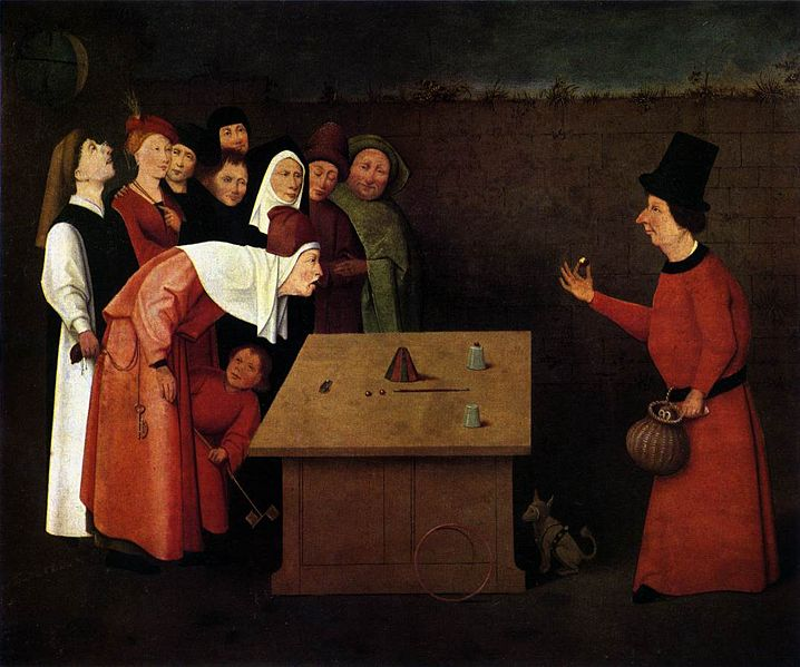 The Conjurer, by Hieronymus Bosch (or his workshop), 1502