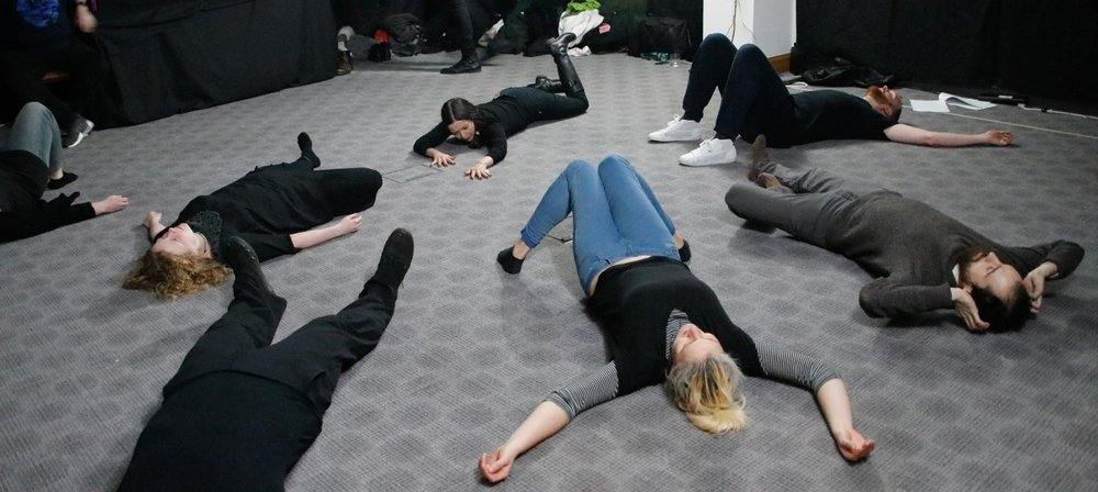 Participants during the workshop of ' DIM ', a Transformation Game by Áron Birtalan - 2018, London, UK - photo by Jost L. Hansen