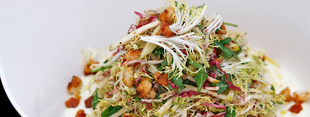 BobbySue's Nuts Burrata and Frisée Salad Recipe
