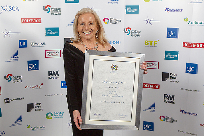 Lorna Trainer SQA star Awards