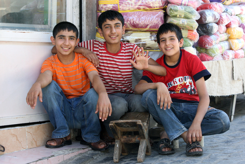 PHOTO: KURDISH BOYS IN TURKEY, 2009, THOMAS WYNESS