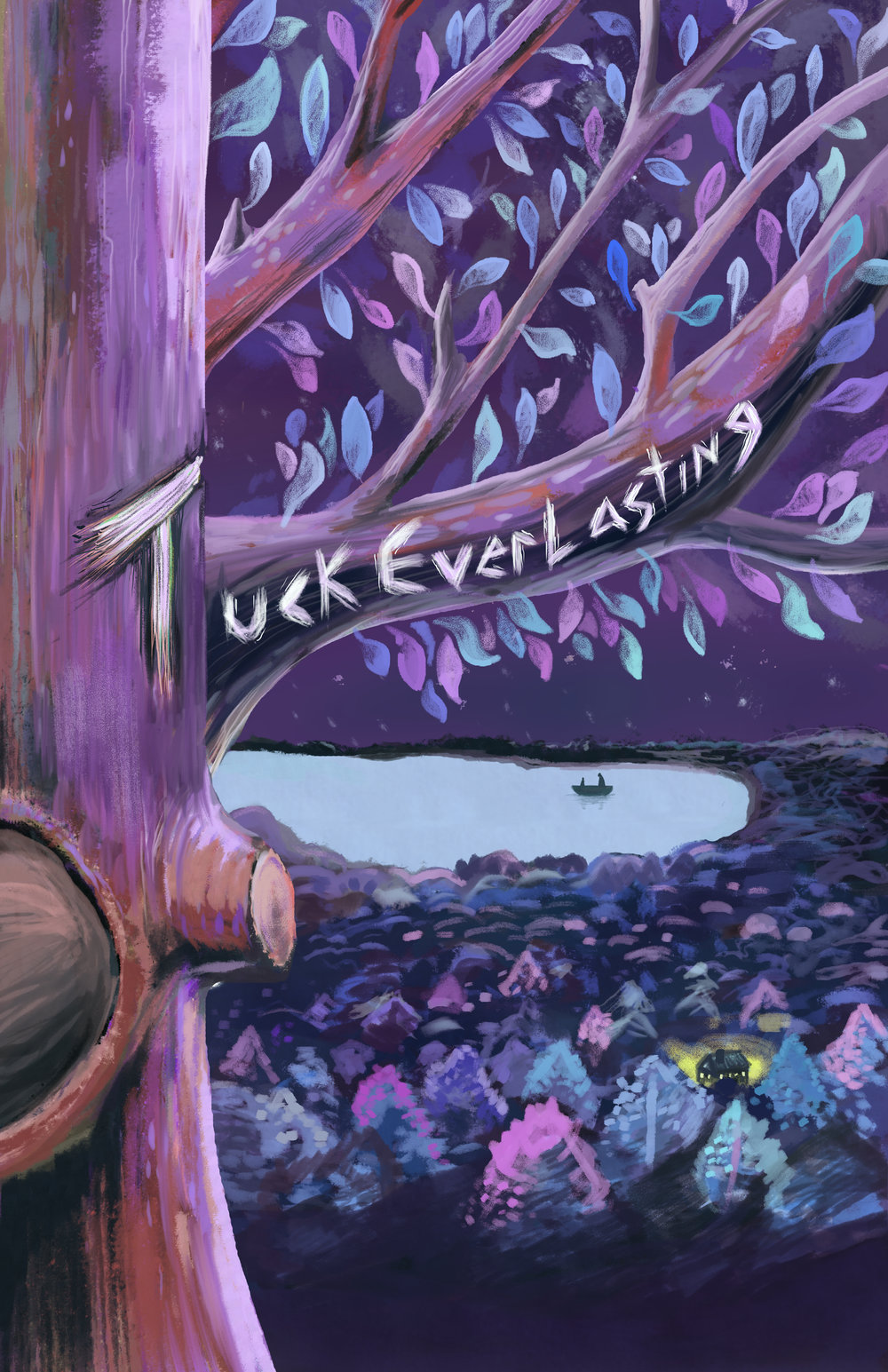 Tuck Everlasting poster for the Coterie Theater. 11x17 digital painting