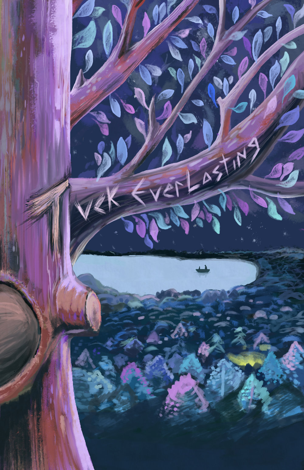 Tuck Everlasting Poster   This is a poster that was designed for one of the plays at the Coterie Theater. I made several adaptations for them for their web formats and print. Digital Painted.