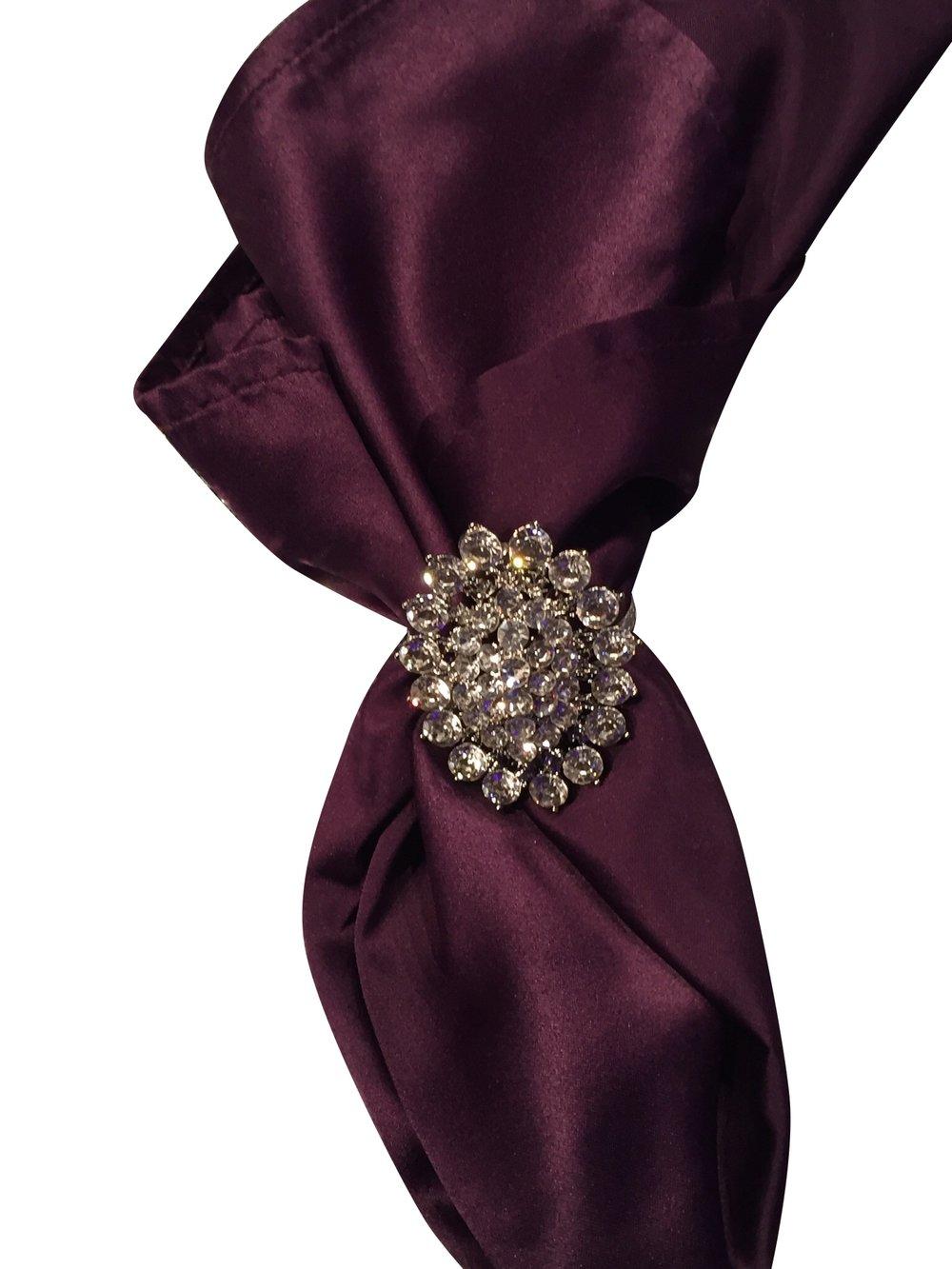 Pewter Victorian Brooch Napkin Ring