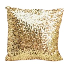 Gold Sequin Throw Pillow
