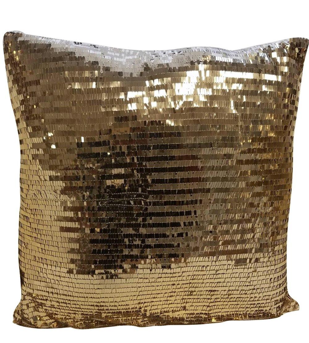 Bronze Sequin Pillow