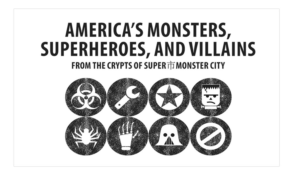 Exhibition Signage: SuperMonster市City