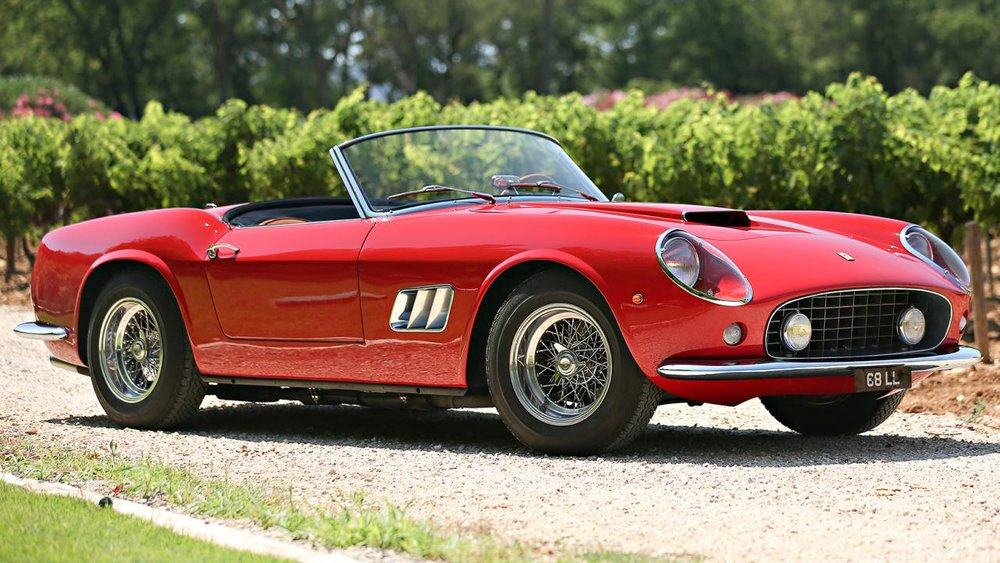 5. FERRARI 250 GT SWB California Spider. 1961. $17,160,000US