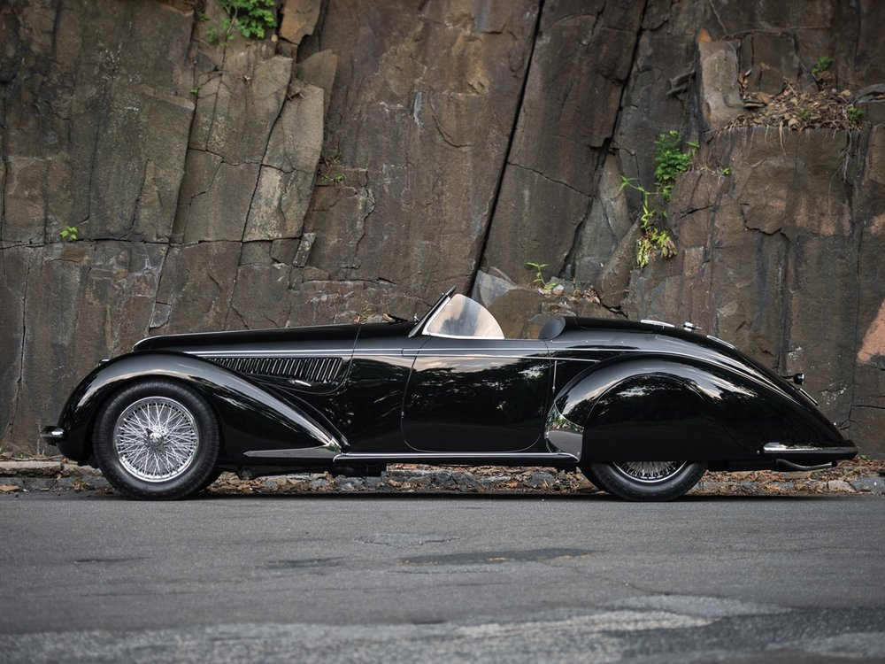 3. ALFA ROMEO 8C 2900B Lungo Spider by Touring. 1939.  $19,800,000US