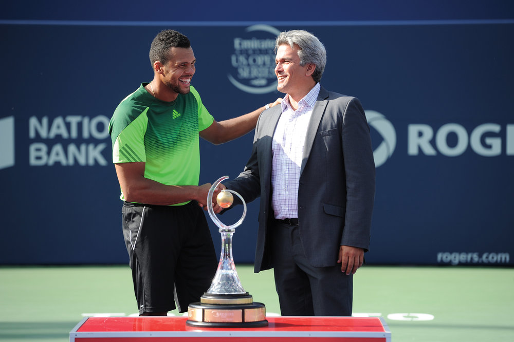 Karl with 2014 Rogers Cup Toronto Champion Jo-Wilfried Tsonga