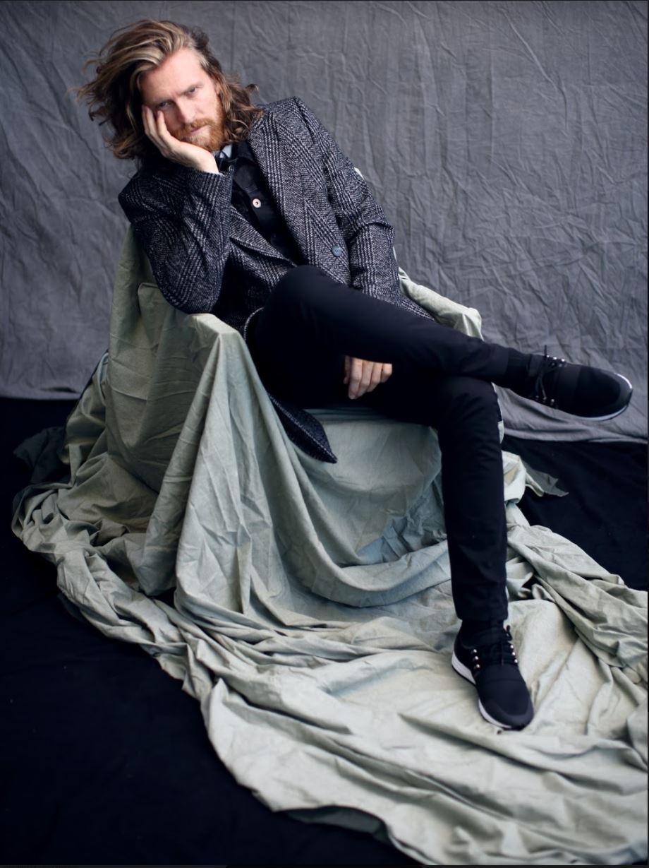 Coat and pants MATINIQUE. Jean vest MINIMUM. Shirt LARDINI at OGYLVI. Sneakers HUGO BOSS at BROWNS.