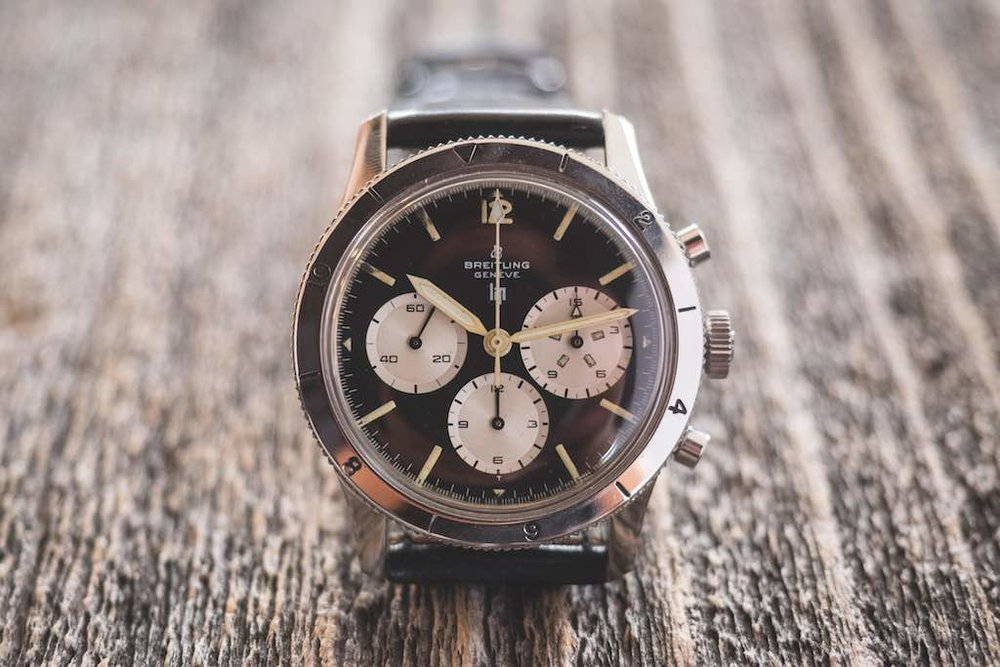 Co-branded Breitling & Lip chronograph - Manufactured around 1965 - Recently sold for USD 6'700