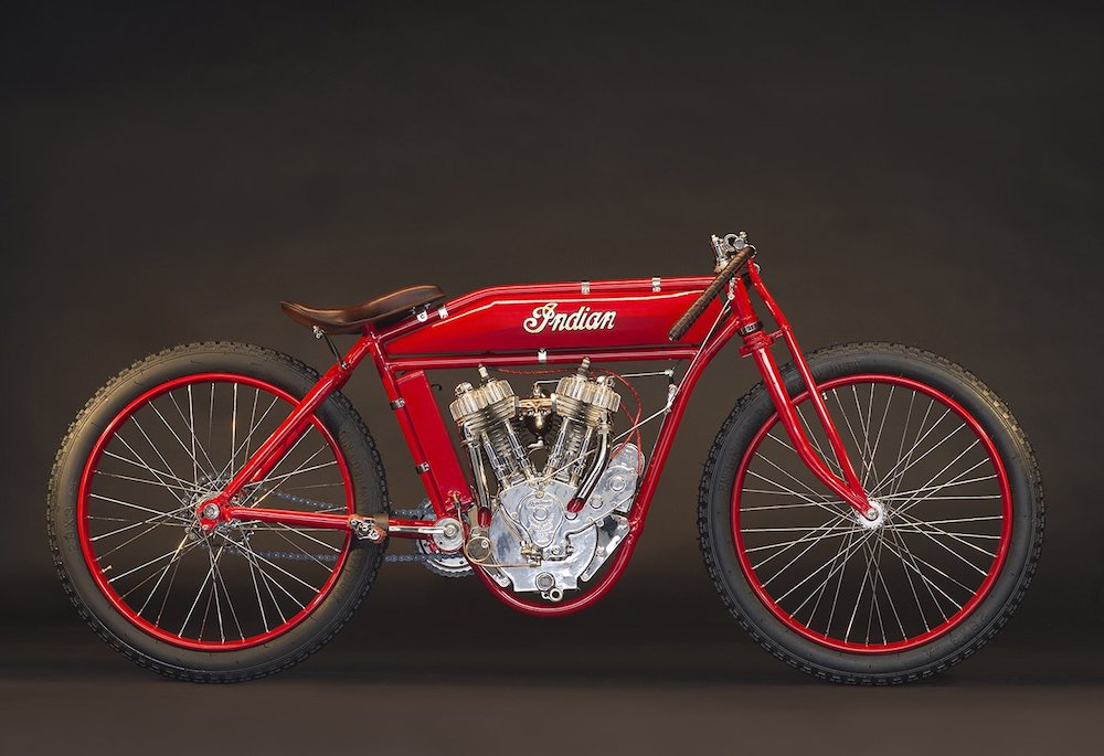1918 Indian Twin board-truck Racer
