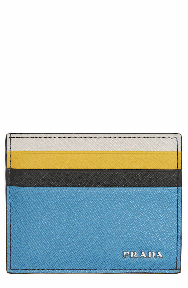 PRADA - Arrow Leather Card Case ($343.50) at NORDSTROM