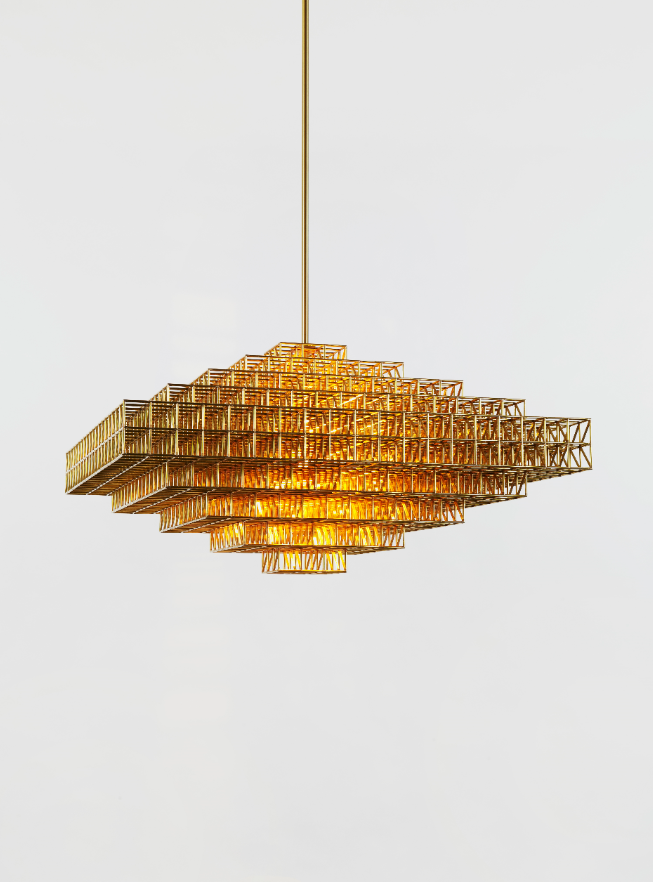 Gridlock  for Roll & Hill, 2014, Brass, Electrical fittings