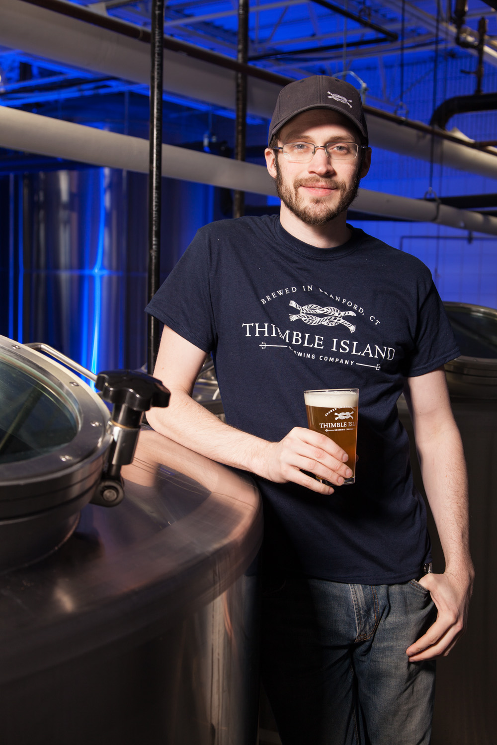 Ben Loomis, Brewer at Thimble Island Brewing Co. Branford, CT Established in 2010