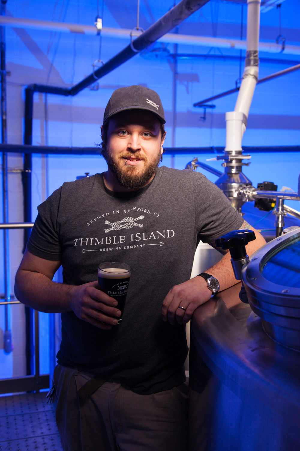Dan Carr, Brewer at Thimble Island Brewing Co. Branford, CT Established in 2010