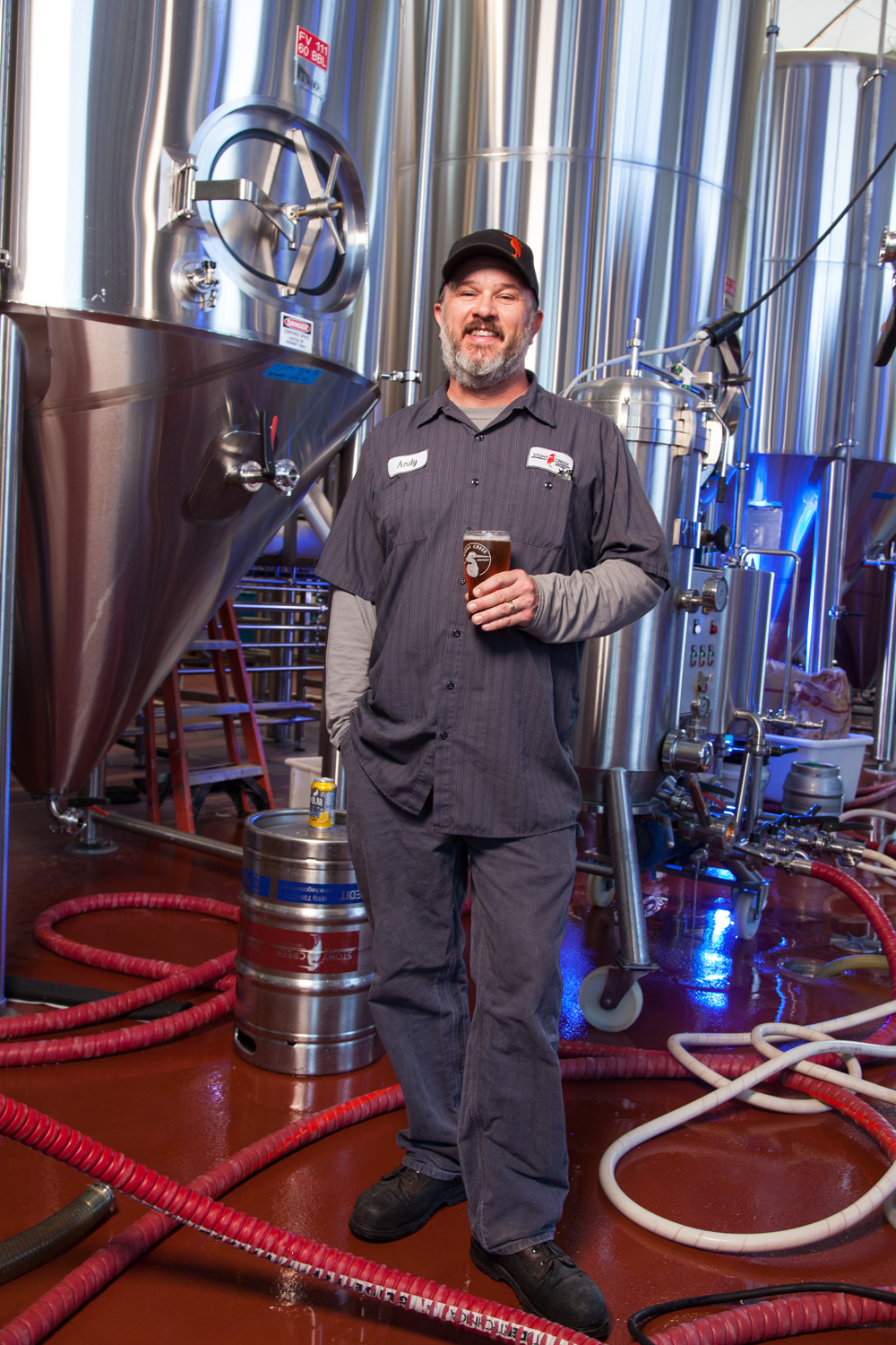 Andy Schwartz, Brewmaster at Stonycreek Brewing Co. Branford, CT Established in 2015