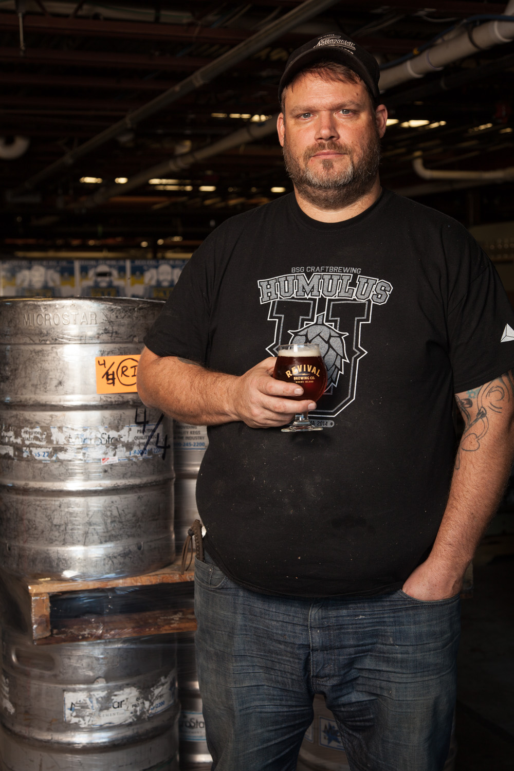 Sean Larkin, Brewmaster at Revival Brewing Co. Cranston, RI Established in 2012