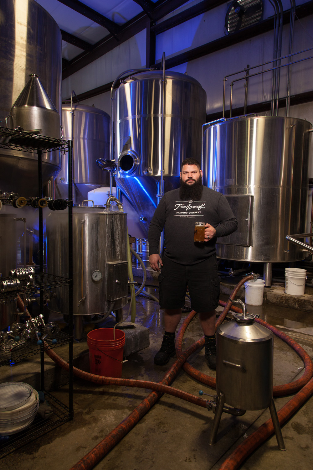 Steve Sharp, Brewmaster at Foolproof Brewing Co. Pawtucket, RI Established in 2012