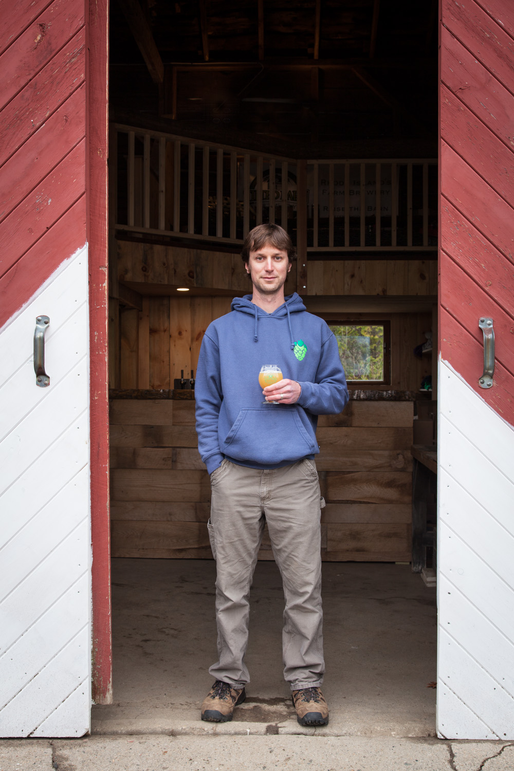 Matt Richardson, Brewmaster at Tilted Barn Brewery, Exeter, RI Established in 2013