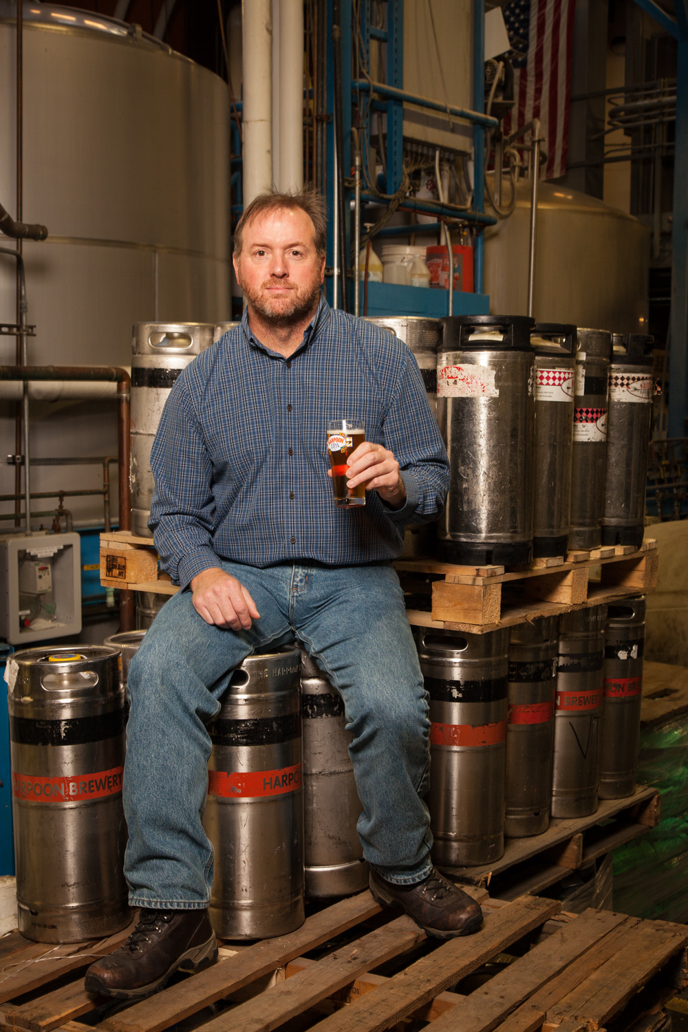 Scott Shirley, Head Brewer at Harpoon Brewery, Windsor, VT Established in 2000