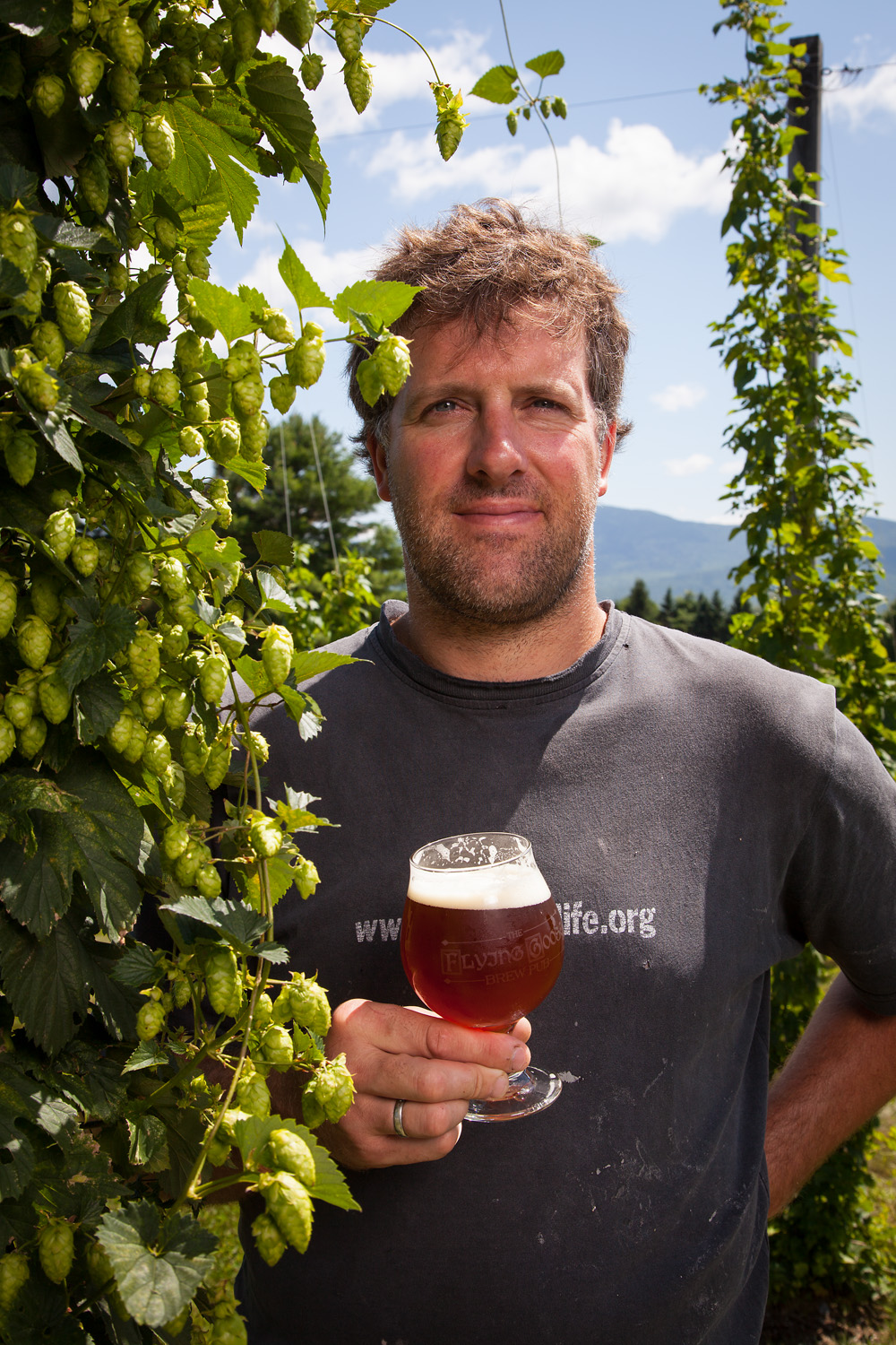 Rik Marley, Brewmaster at Flying Goose Brewpub New London, NH Established in 1996