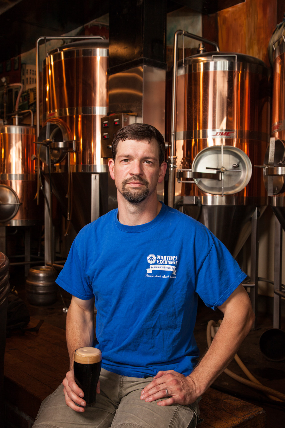 Greg Ouellette, Head Brewer at Martha's Exchange Nashua, NH Established in 1993
