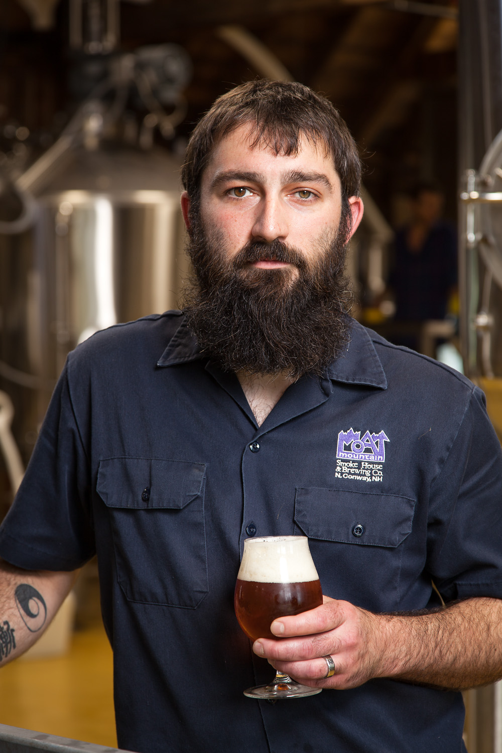 Scottie Simoneau, Head Brewer Moat Mountain Smokehouse and Brewing Co. North Conway, New Hampshire Established in 2000