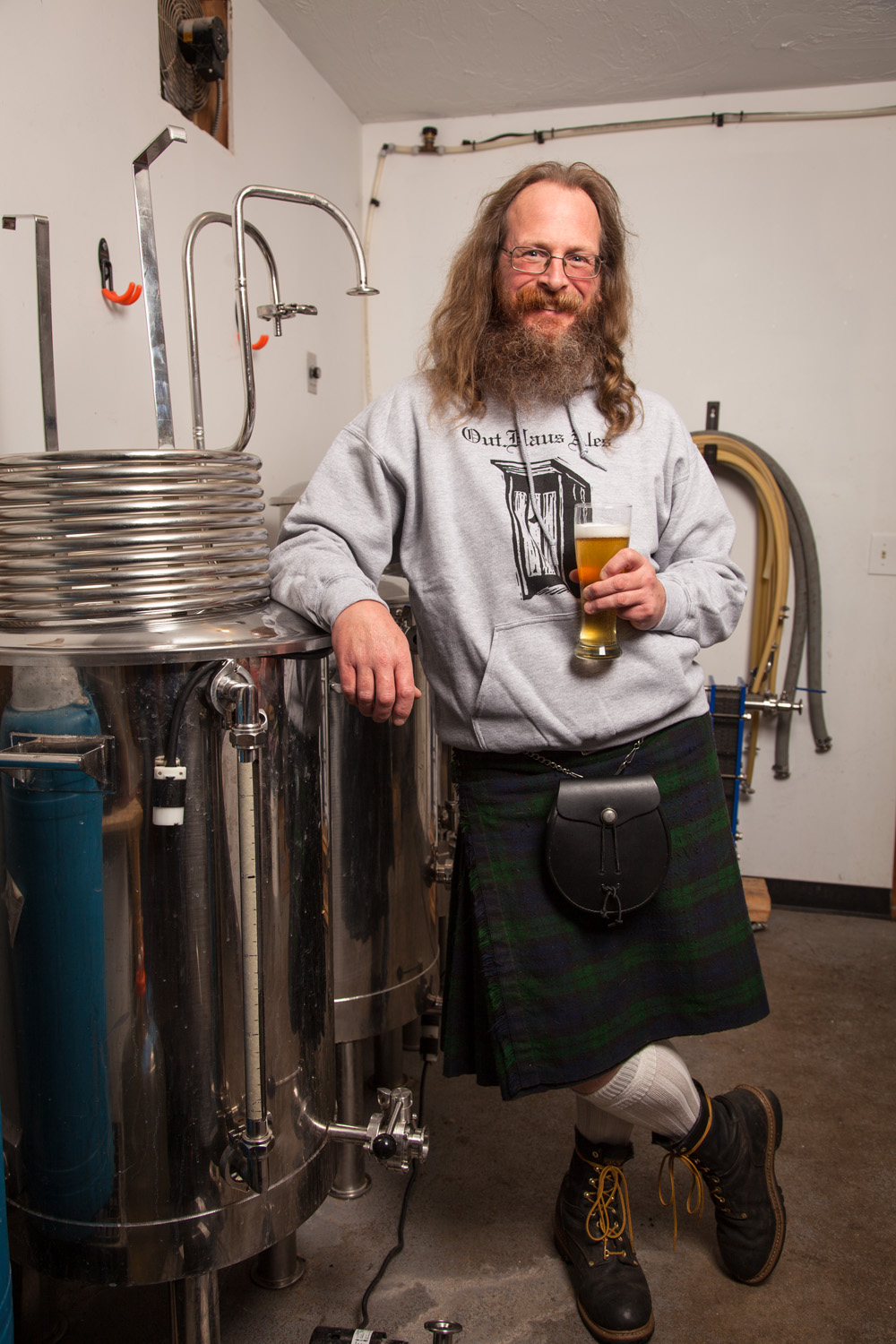 Tom Albright, Brewmaster at Out Haus Ales Northwood, NH Established in 2013