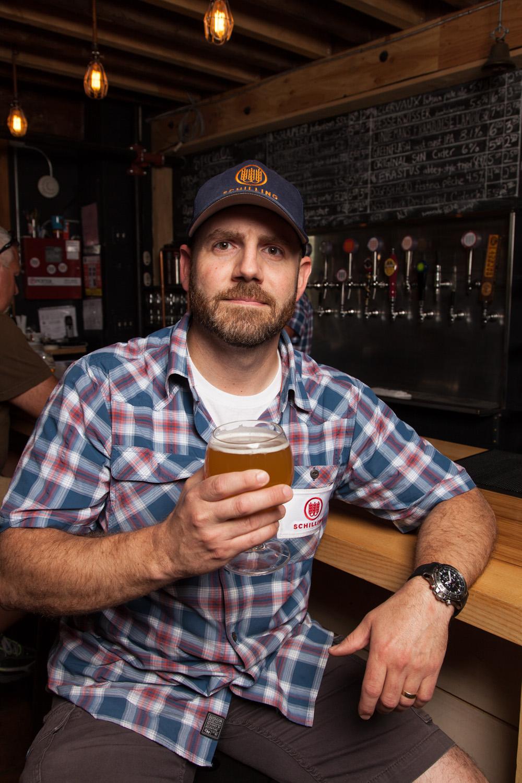 John Lenzini, Brewmaster at Schilling Beer Co. Littleton, NH Established in 2013