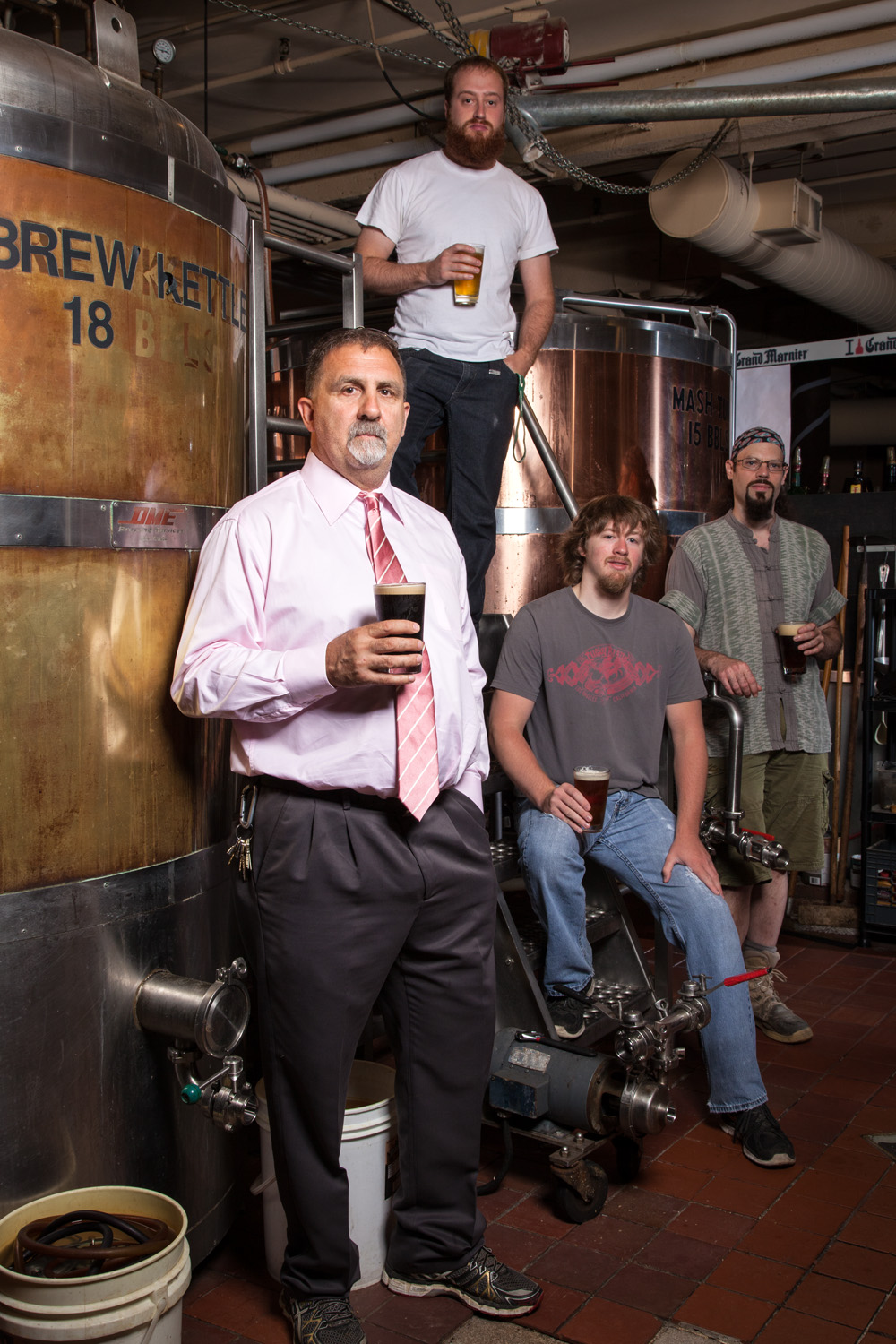 Peter Telge, Brewmaster and brew crew at Milly's Tavern (Stark Brewing Co.) Manchester, NH Established in 1994