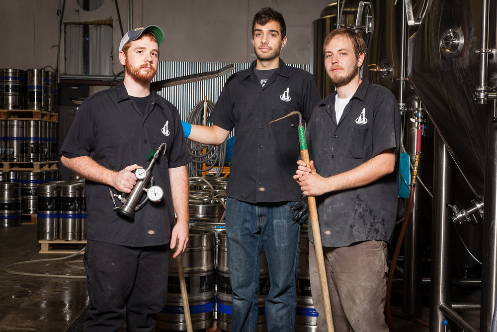 Matt Neff, Jordan Moulton and Ben Miller Brew Crew, 603 Brewery, Londonderry, NH Established in 2012