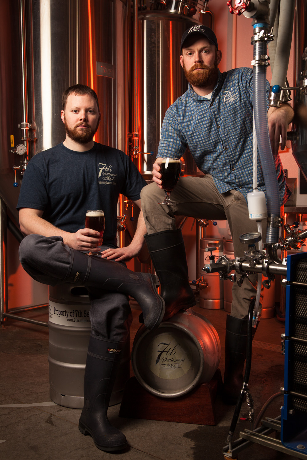 Nate Sephton and Josh Henry, Brewers at 7th Settlement Dover, NH Established in 2013