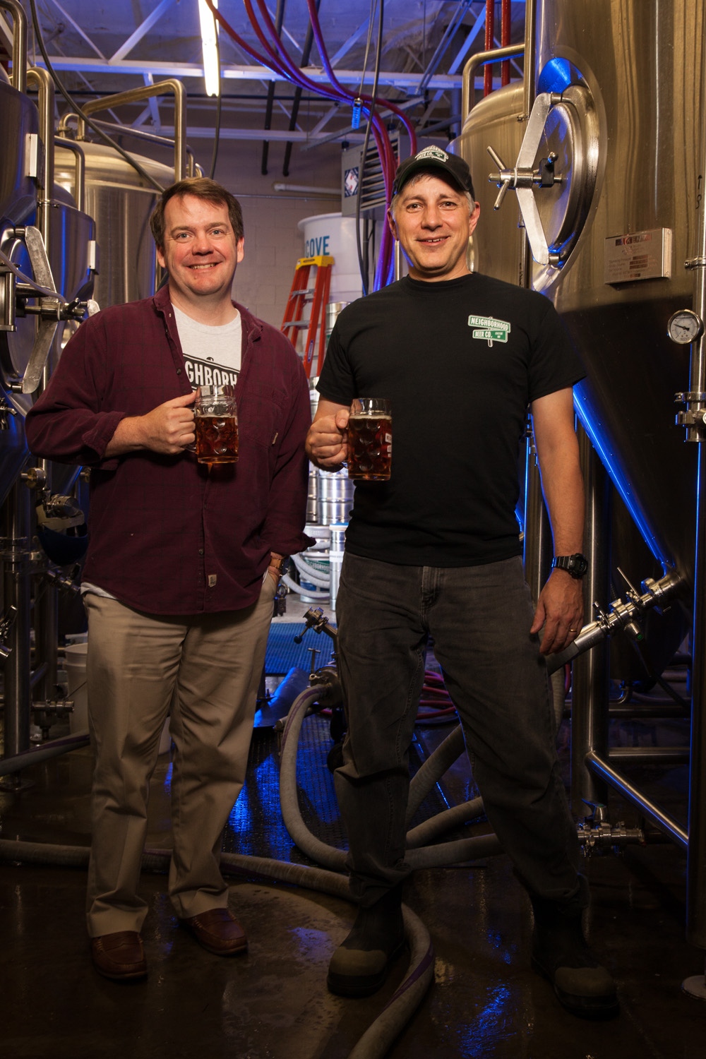 Tim Diaz, Partner and Joe Berwanger, President and Brewmaster Neighborhood Beer Co. Exeter, NH Established in 2015