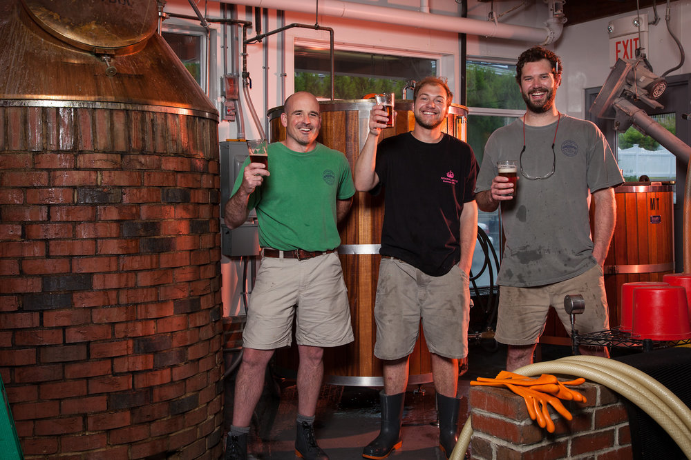 Michael Haley, Head brewer, Connor McKaig, Assistant Brewer and Ben Connelly, Brewer Kennebunkport Brewing Co. Kennebunkport, ME Established in 1994