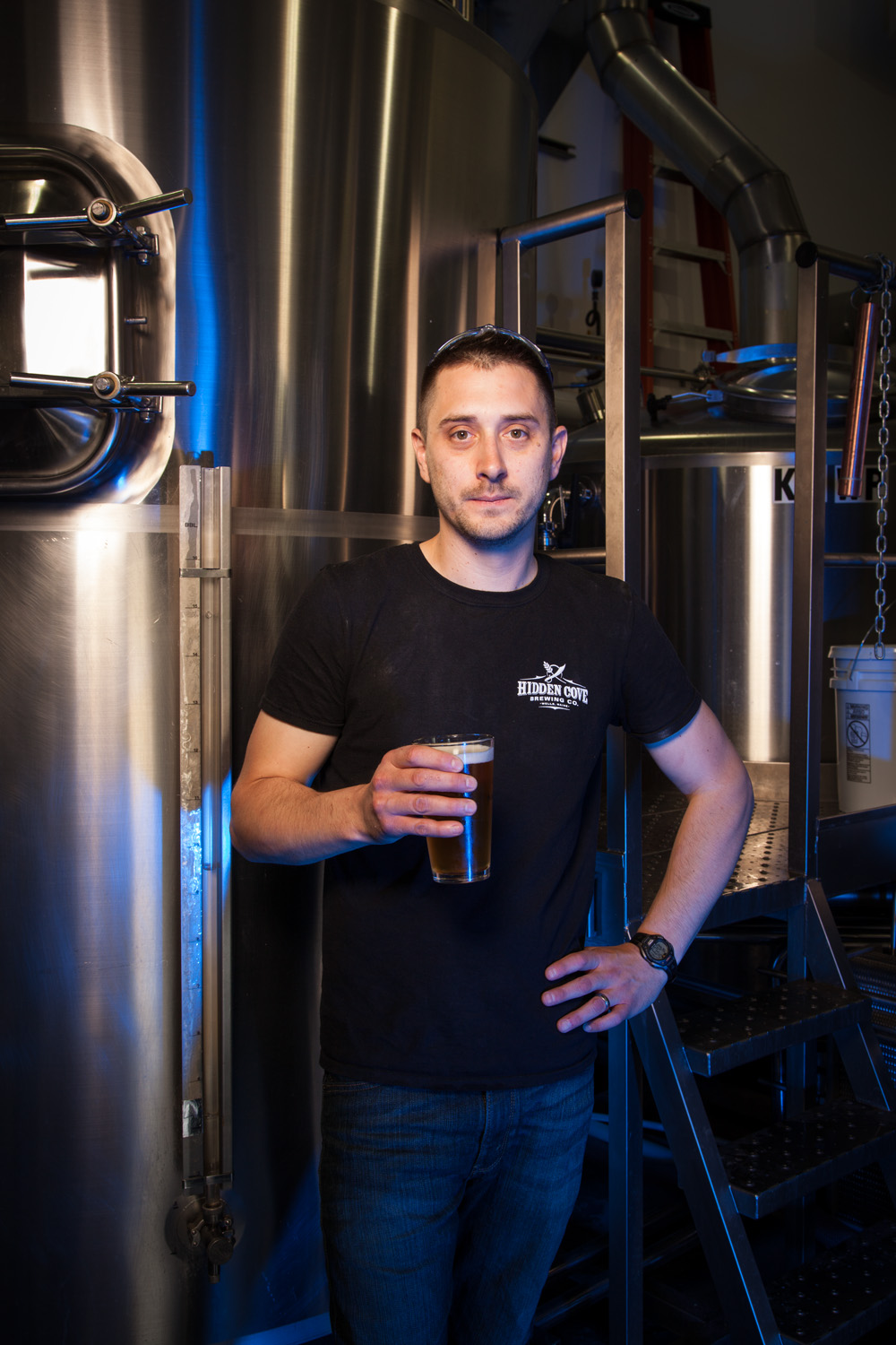 Kevin Glessing, Head Brewer Hidden Cove Brewery Wells, ME Established in 2013