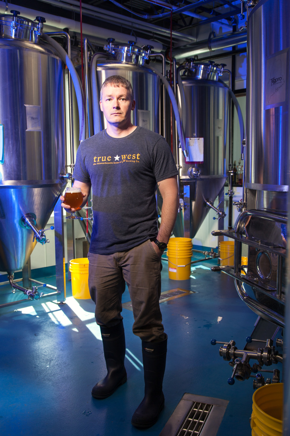 Russell Carpenter, Brewer at True West Brewing Co. Acton, MA Established in 2015