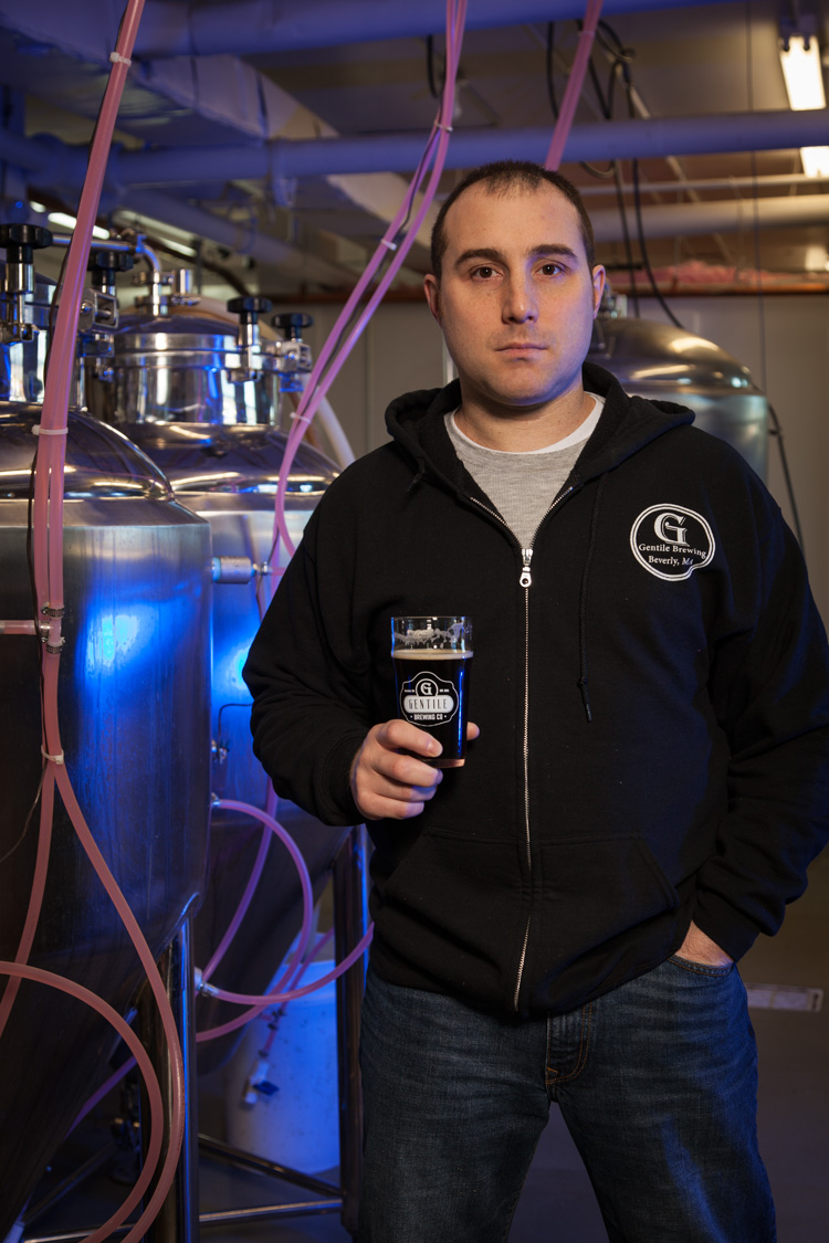 Paul Gentile, Brewmaster at Gentile Brewing Co. in Beverly, MA Established in 2016