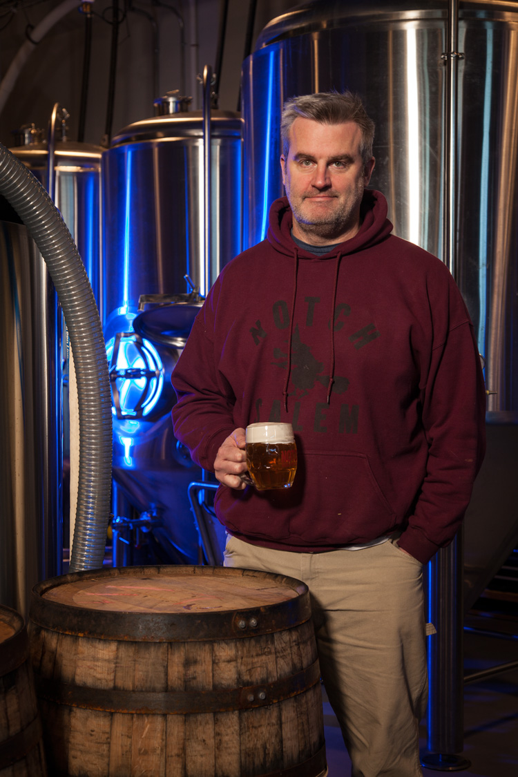 Nate Heck, Brewery Manager at Notch Brewing in Salem, MA Established in 2010